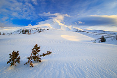 Wy'East (Dan Sherman) Tags: morning winter sky mountain snow mountains clouds oregon us unitedstates northwest cascades mthood pacificnorthwest hood pnw mounthood timberline cascademountains wyeast cascadevolcano