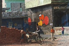 Echoes of India (Pejasar) Tags: life street india color art boys paint scene everyday