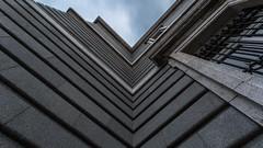 - Broken V Look UP II - (Mr. LookUP II M.K.Z.P. II) Tags: madrid urban building architecture clouds facade movement spain cloudy geometry some symmetry symmetric edges longtimeexposure 2015 vlookup urbanexplore