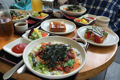 Samovar Tea Lounge - Smoked Duck Jook (raluistro) Tags: sanfrancisco food tea drinks brunch yerbabuena samovartealounge