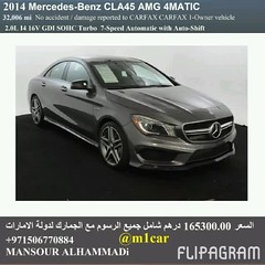 Certified 2014 Mercedes-Benz CLA45 AMG 4MATIC  32000   165300.00                             00971567 (mansouralhammadi) Tags:             fromm1carusatoworld