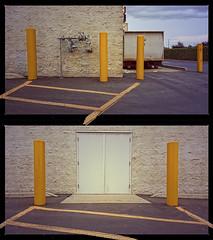 STANDING GUARD (akahawkeyefan) Tags: lines yellow diptych poles kingsburg davemeyer