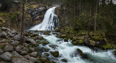 Golling I (Alex Schubert) Tags: panorama alps salzburg water creek canon dawn evening is waterfall spring wasser wasserfall pano nik dmmerung alpen frhling 6d 1635 golling schneeschmelze gollinger