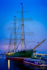 Rickmer Rickmers Blue Hour (thomas.dalecki) Tags: blue germany landscape boot boat sailing ship outdoor hamburg hour hafen landungsbrcken elbe segeln maritim