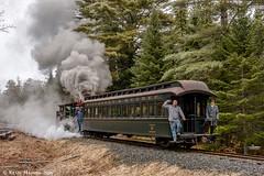 WW&F #9 with Coach 3 (kdmadore) Tags: railroad train steam steamengine wwf narrowgauge steamlocomotive alna 2foot wiscassetwatervillefarmington wwfry9 maine2foot