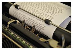 The big sleep (*Christian) Tags: typewriter writing vintage roman nostalgia novel chandler criture nostalgie detective underwood policier romannoir