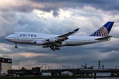 MSP N179UA (Skeeter Photo) Tags: aviation msp landing boeing 747 jumbojet nas charter unitedairlines 747400 kmsp b744 minneapolisstpaulinternationalairport avgeek mynn queenoftheskies 747422 skeeterphoto ual2232