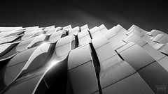 a Flat Line isn't a Good Sign (Vanwetswinkel Vincent) Tags: urban bw white abstract black wall architecture modern contrast waves sony groningen curve a7s