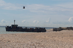 EXERCISE GRIFFIN STRIKE (mark_rutley) Tags: beach french exercise military navy royal hampshire helicopter chinook landingcraft amphibious commandos gosport royalnavy royalmarines browndown exercisegriffinstrike