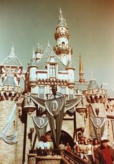 Sleeping Beauty Castle Redscale Disneyland (lammyracer) Tags: disneyland canonet sleepingbeautycastle redscale