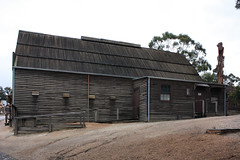 Sovereign Hill Auction and Salerooms Side (Malleeroute) Tags: wood house building gold hall wooden rooms sale auction room hill colonial victoria dalton carver ballarat sovereign auctioneer sovereignhill