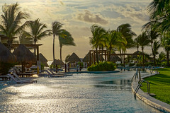 PlayaMujeres_0104 (allen ramlow) Tags: travel trees pool sunrise sony playa palm resort mujeres a6000