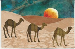 Desert Collage Postcard (mamamangrove) Tags: desert camels swapbot mailartpostcardcollage