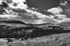 Glen Luss (AdMaths) Tags: uk greatbritain blackandwhite bw cloud mountain mountains monochrome clouds landscape lumix photography mono scotland blackwhite nationalpark scenery unitedkingdom outdoor scottish scene panasonic photograph lochlomond luss lochlomondnationalpark scottishlandscape argyllbute bridgecamera fz150 scottishmountain glenluss dmcfz150 adammatheson panasoniclumixfz150 lumixfz150 adammathesonphotography photographyofscotland