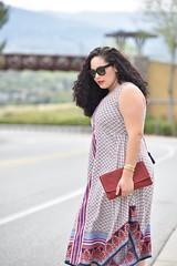 Hanky Hem (GirlWithCurves) Tags: curvy curlyhair plussizemodel hankyhemdress redclutch nudeheels plussizeblogger taneshaawasthi