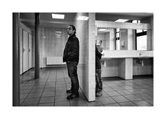 Boys (Jan Dobrovsky) Tags: people bw boys contrast prague grain indoor document periphery leicaq