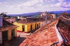 Roofs of Trinidad (Cuba) (PaulHoo) Tags: city roof urban film analog 35mm cuba contax velvia trinidad fujichrome t2 cityview lightroom 2015