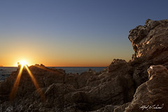 Daybreak at Leo Carillo (Alfred J. Lockwood Photography) Tags: ocean california seascape nature rock sunrise landscape malibu pacificocean southerncalifornia pacificcoast clearsky californiacoast leocarillo leocarillostatepark alfredjlockwood