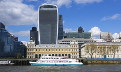 The Good, the Bad and the Ugly ... (lunaryuna (off to Iceland for 2 weeks)) Tags: england panorama london weather thames architecture buildings river season spring metropolis lunaryuna riverthames walkietalkie rivercruise urbanskies modernvsold architecturalmix urbanconstructs londonbyboat seasonalwonders