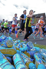 Refreshed (marktmcn) Tags: london station bottles marathon drinking april runners 24 100 discarded rotherhithe dsc rx lucozade refreshment 2016