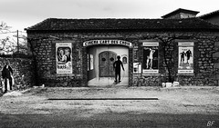 Only film no popcorn here ! (poupette1957) Tags: life street city travel urban house black art abandoned monument architecture canon french noir photographie curious deco rue cin grandangle atmosphre noieetblanc humanisme imagesingulires