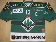 EHC Olten 2015 - 2016 home Game Worn Jersey (kirusgamewornjerseys) Tags: game ice hockey stefan worn jersey hrlimann eishockey nla olten ehc