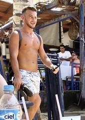 IMG_0756 (danimaniacs) Tags: shirtless man guy pecs beard hunk jewelry trunks swimsuit stud scruff sext