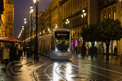 Seville Jan 2016 (12) 034 - Wet and dark in the city (Mark Schofield @ JB Schofield) Tags: santa plaza bridge parque people streets wet public caf rio architecture bar night umbrella reflections river dark ceramic puente graffiti la los spain guadalquivir san expo cathedral maria candid transport iglesia tram seville espana cruz tiles parasol universidad alcazar pavilion oranges harp andalusia cobbles encarnacion luisa giralda isla embankment metropol arenal justa triana macarena remedios cartuja alamillo bernado chapina