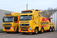 Volvo Egertons Recovery ER56TOW (NTG's pictures) Tags: classic for volvo warrington motorway cheshire run area service trucks recovery lymm egertons er56tow