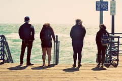 Coast to Coast (wilsonajani) Tags: ocean friends standing four pier santamonica potrait
