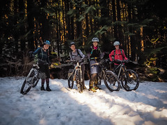 Fromme Snow Riding (kendyck1) Tags: bc mountainbike fil northshore annie shirley espresso northvancouver mountainbiking natasha fromme