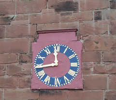 Clock St Andrew Tarvin Cheshire IMG_4482 (rowchester) Tags: uk clock church face canon hands sandstone cheshire dial powershot timepiece romannumerals standrew tarvin sx40 sx40hs