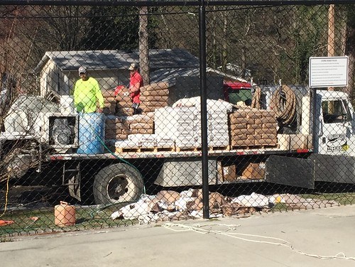 Materials being delivered