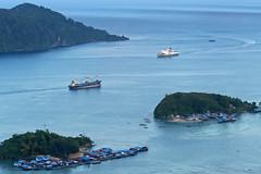 Jayapura City (Jokoleo) Tags: life city sea indonesia bay town high view hill citylife culture papua vilage jayapura