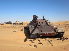 Three Libyan Tanks (D-Stanley) Tags: sahara chad soviet libya tanks libyan t55 birkora