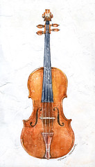 22-01-2016s (Irina V. Ivanova) Tags: musician music watercolor sketch concert russia sketching musical violin orchestra sound instrument philharmonic gesso stradivari melodious 365sketches