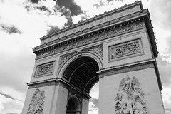 Arch 2 (asliakal) Tags: travel bw paris france canon de war arch place arc triomphe charles victory historical sight gaulle epic asli 2011 550d akal t2i