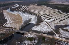 Ice on river Halliste (BlizzardFoto) Tags: bridge ice water village flood aerialphotography vesi j icejam sild riisa soomaa aerofoto kla leujutus soomaanationalpark soomaarahvuspark viiesaastaaeg hallistejgi jminek riverhalliste