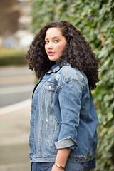 50 Shades of Denim (GirlWithCurves) Tags: naturalhair curlyhair plussize skinnyjeans chambray denimondenim fashionblogger girlwithcurves cutoutpumps plussizeblogger taneshaawasthi