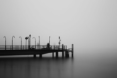The Solitary Essences of the Ghosts (Maximecreative) Tags: longexposure winter mist lake fishing shadows fishermen ghosts leman f4 morges 24105mm spectres canon6d