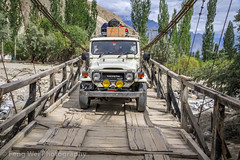 Jeep Crossing Bridge, Skardu To Askole, Gilgit-Baltistan, Pakistan (Feng Wei Photography) Tags: travel bridge pakistan horizontal outdoors asia jeep 4wd transportation kashmir pk colorimage indiansubcontinent shigar shigarvalley gilgitbaltistan centralkarakoramnationalpark