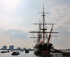HMS Warrior Portsmouth (Eddie Crutchley) Tags: city england port coast europe hampshire portsmouth tallship hmswarrior