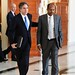 Deputy Secretary Blinken Walks With Djibouti's Foreign Minister Youssouf After Their Meeting in Djibouti City