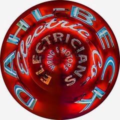 dahl-beck power button (pbo31) Tags: sanfrancisco california winter red urban white color sign electric night dark circle nikon neon january button bayarea planet polarized 2016 dahlbeck boury pbo31 d810 financialdistrictsouth