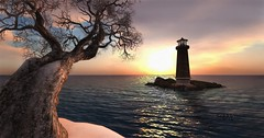 Lighthouse beyond the tree canvas (SakkiSmiles) Tags: frisland