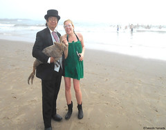 Dr. Takeshi Yamada and Seara (Coney Island Sea Rabbit) at the winter swimming event by the Coney Island Polar Bear Club at the Coney Island Beach in Brooklyn, New York on January 10 (Sun), 2015.  mermaid. 20160110Sun DSCN3343=pC1 (searabbits23) Tags: winter ny newyork sexy celebrity art beach fashion animal brooklyn asian coneyisland japanese star yahoo costume tv google king artist dragon god cosplay manhattan wildlife famous gothic goth performance pop taxidermy cnn tuxedo bikini tophat unitednations playboy entertainer samurai genius donaldtrump mermaid amc mardigras salvadordali billclinton hillaryclinton billgates aol vangogh curiosities bing sideshow jeffkoons globalwarming takashimurakami pablopicasso steampunk damienhirst cryptozoology freakshow barackobama polarbearclub seara immortalized takeshiyamada museumofworldwonders roguetaxidermy searabbit ladygaga climategate