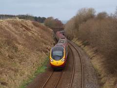 Garrochburn -  07-02-2016 (agcthoms) Tags: scotland trains railways ayrshire virgintrains pendolino class390 garrochburn 390152