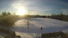 Dreamy Getaway (AngelBeil) Tags: morning snow sunrise frozen timelapse palmtrees hammock chesapeakebeach snowart overtherainbow gopro beforemymorningcoffee blizzard2016