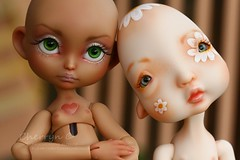 Faceup and Body Blushing for Janulik - Lillycat Cerisedolls Poulpy and Nefer Kane Dolls Humpty Dumpty (Cherryn&Dolls) Tags: humpty dumpty poulpy
