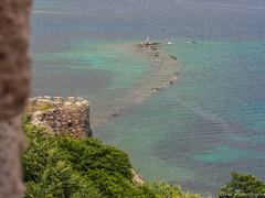Ancient port (NikosPesma) Tags: sea castle port ruins underwater aegean greece lesvos antiquity mytilene ancientruins